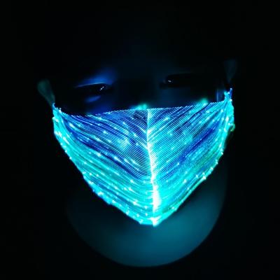 LED colorful flashing fiber face mask (100pcs/ctn)