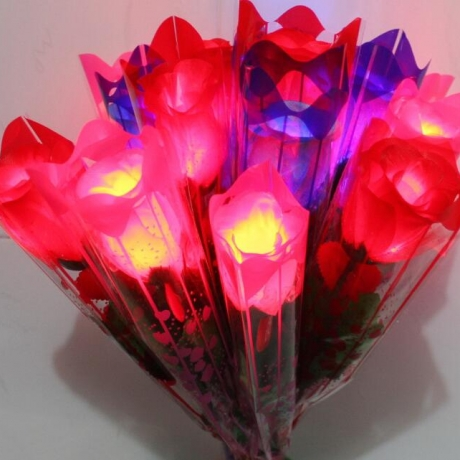 imitation plant cloth luminous light rose