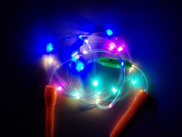 LED flash sports rope skipping