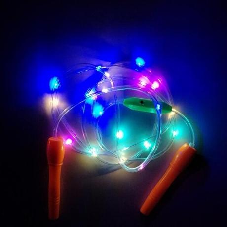 LED flash sports rope skipping