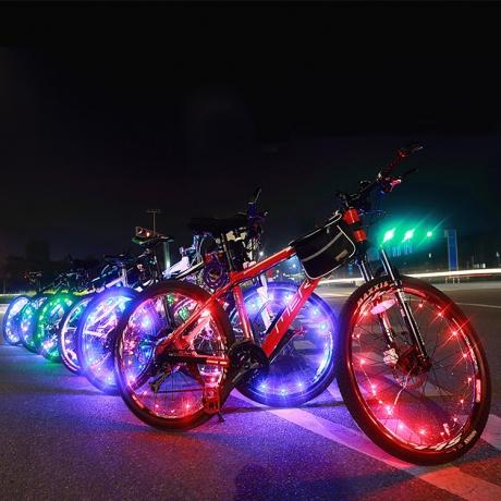 Bicycle wheel around spoke lamp  (No.BA01)