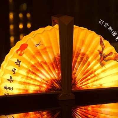 rechargeable folding fan lamp with china lucky culture (40pcs per ctn)