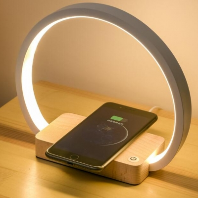 Bedside night light with wireless charging function of mobile phone (10pcs per pack)