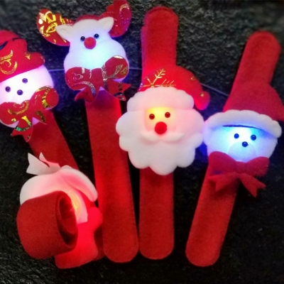 LED flashing Christmas slap bracelet (1200pcs/ctn/lot)