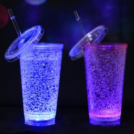 Ice cracking effect led pipette light cup
