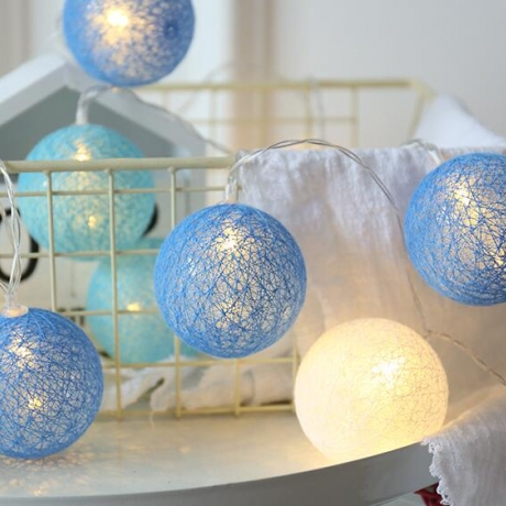 Led rattan ball cotton thread ball string lamp