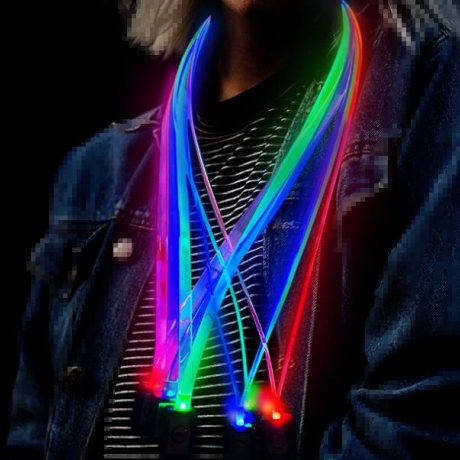 LED luminous silicone flash cord for chest card