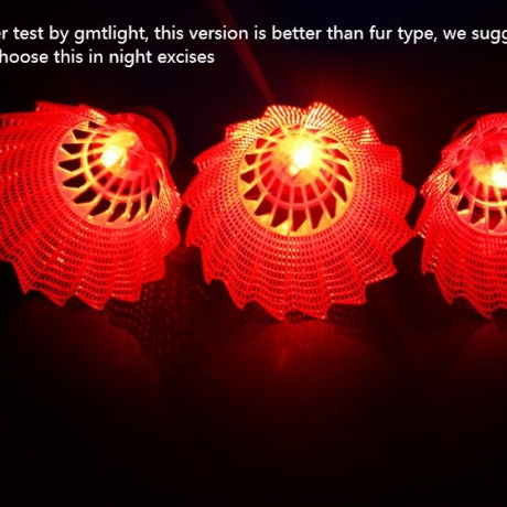 Luminous light badminton and flash shuttlecock