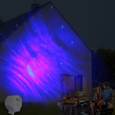 Aurora sky projector with bluetooth speaker and remote control