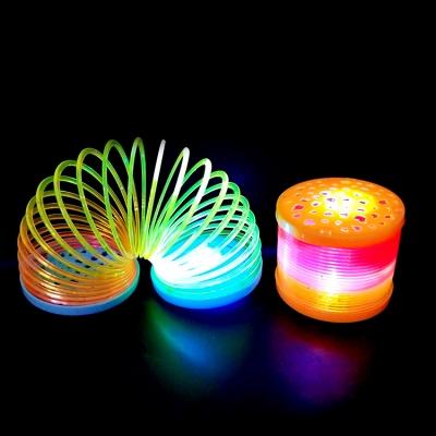 LED luminous rainbow plastic spring (300pcs/lot)