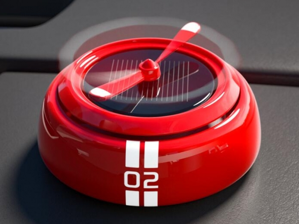 Solar auto rotating freshener for automobile decoration with perpetual propeller