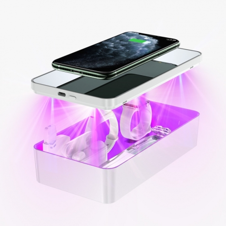 3in1 wireless cell phone charger UV disinfection box (No.LUL-B11W)