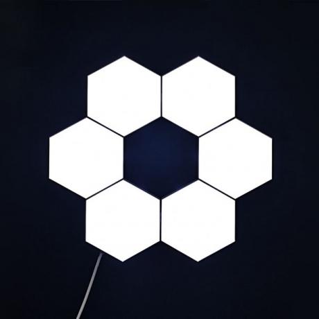 Creative Single LED Color Touch honeycomb quantum light (LUL-012))