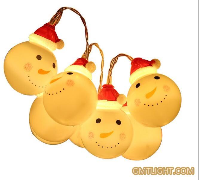 santa claus christmas snowman led light string