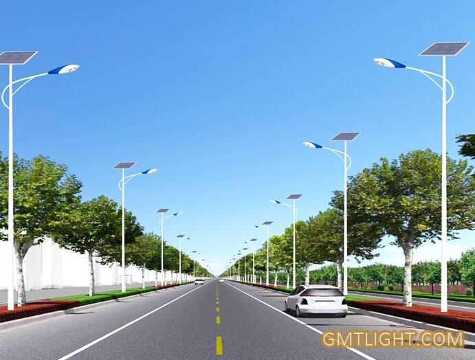 led street light on the highway