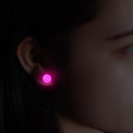 Magnet LED luminous flash light Earrings