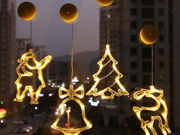 LED Christmas modeling lights with suction cups