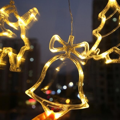LED Christmas modeling lights with suction cups for holiday decoration lamps (84pcs/lot)