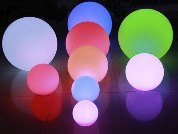 Rechargeable outdoor LED color change ball