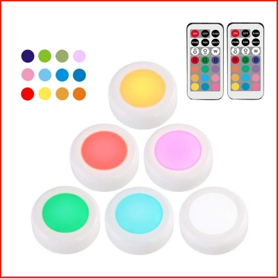 6 lamp with 2 remote controllers colorful decoration night light (60sets/ctn)