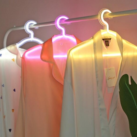 Neon light-emitting light up clothes hook