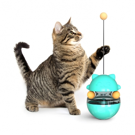 Cat teaser playing tumbler ball feeding toy (No.DB-C03)