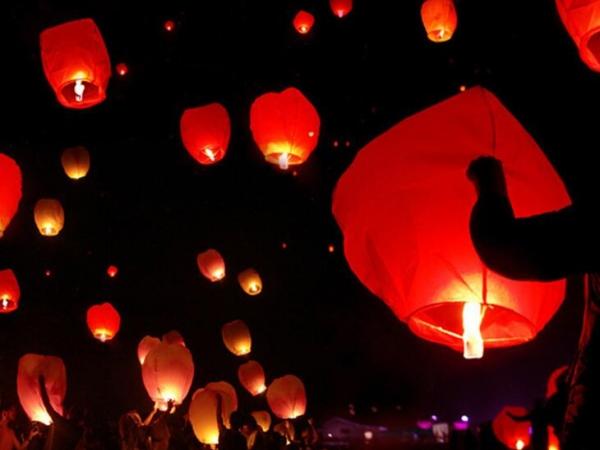 Flying wishing lamp Wishing sky lanterns Kongming lamp