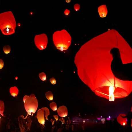 Flying wishing lamp Wishing sky lanterns Kongming lamp
