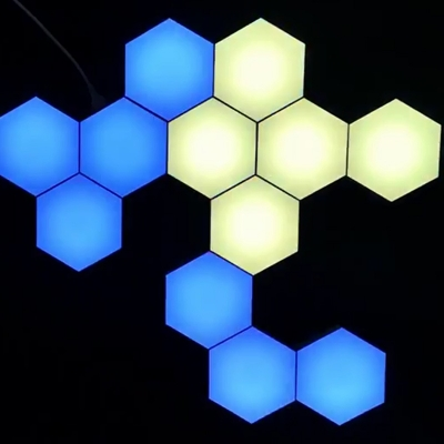 ​Colorful LED Touch and Remote Control honeycomb quantum light (200pcs/lot)