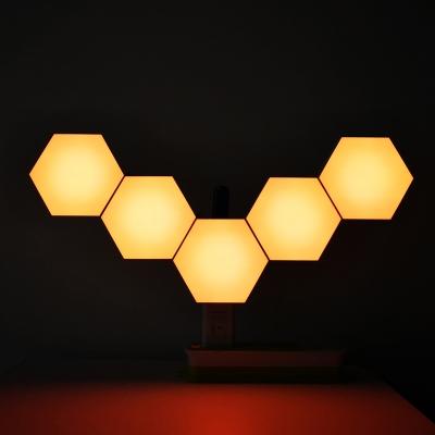 Creative Single LED Color Touch honeycomb quantum light (200pcs/lot)