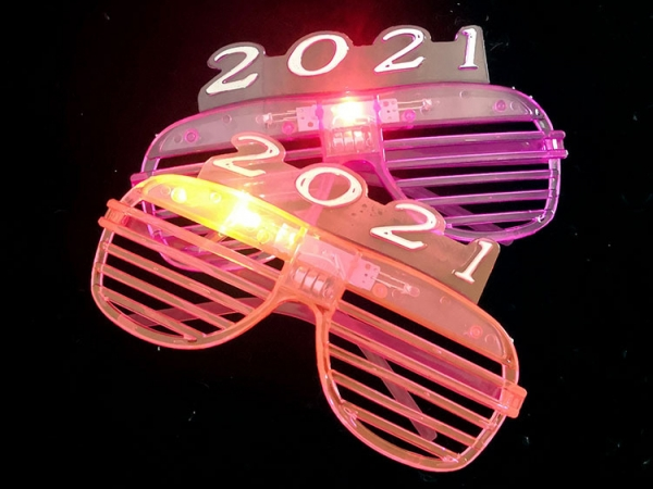 2021 New Year favor LED blinking Shutters sunglasses (LFG-500)
