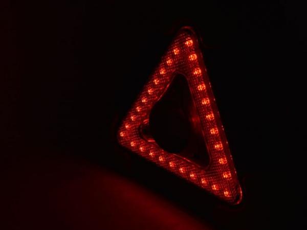 Foldable led flashing safety car triangle light with White COB Red LED