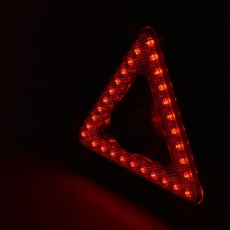 Foldable led flashing safety car triangle light with White COB Red LED