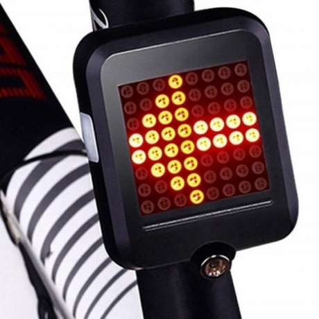 Intelligent rechargeable bicycle tail lamp with steering sign