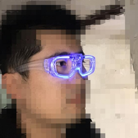 Simple luminous eyeglasses light without lens for entertainment