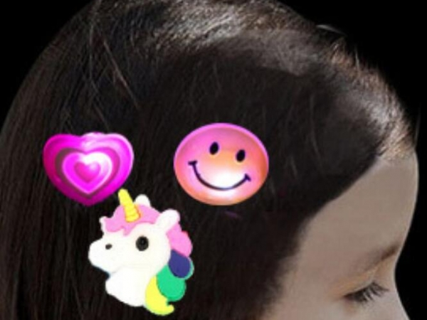 shiny soft plastic cartoon style hairpin clip accessories