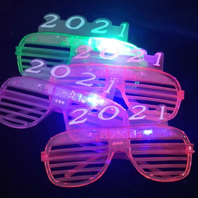 2021 New Year favor LED blinking Shutters sunglasses (480pairs/lot)