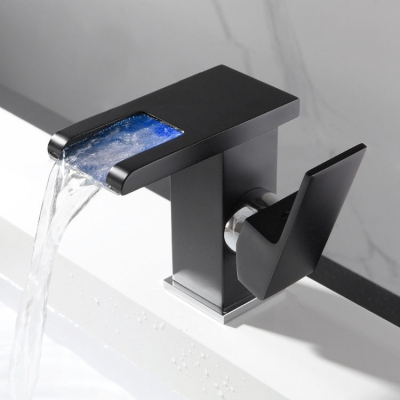 LED luminous waterfall faucet with 3 colors changing (20pcs/lot)