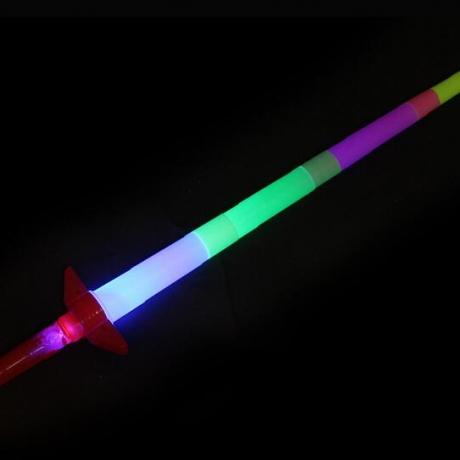 LED lighting telescopic sword scalable light stick