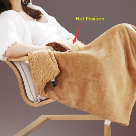 USB safe hand warming and knee protection blanket