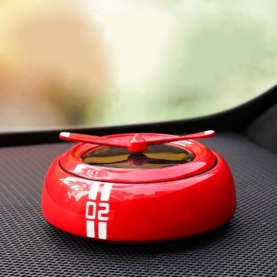 Vehicle-mounted smart rotating solar car air Freshener (60pcs/lot))