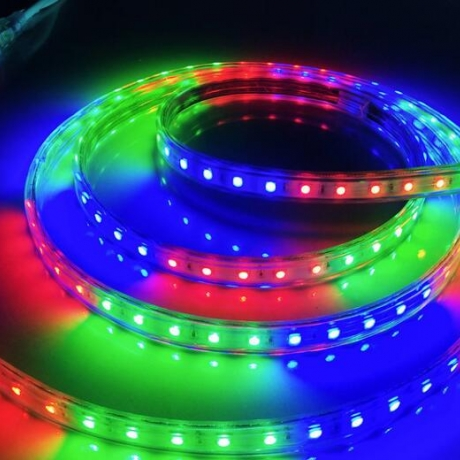 LED light with colorful decorative light strip
