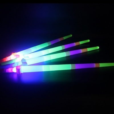 USD100 could buy one lot Party favor four parts LED telescopic sword