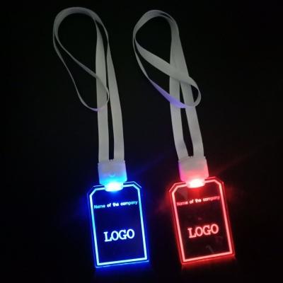 Customized logo print Acrylic Lighted  Lanyard (200pcs/lot)