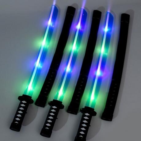 Shining samurai sword light with sound