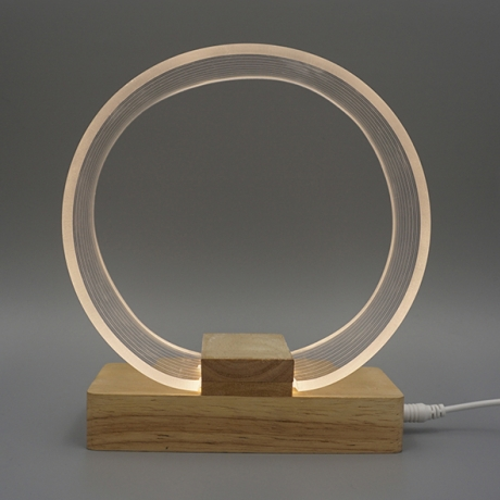 ​Circle shape Nordic LED night light with soft light ( ML-051)