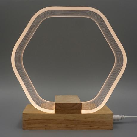 Hexagonal Nordic night light with soft led light(ML-054)