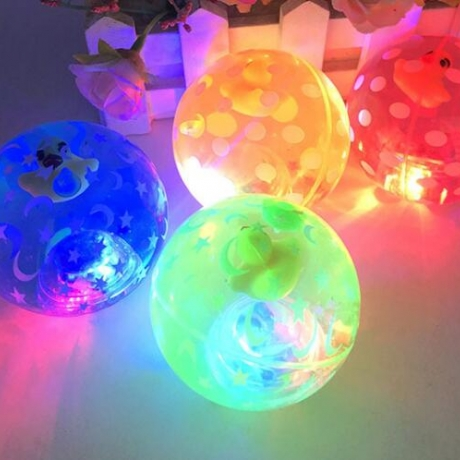 6.5cm diameter twinkle crystal ball light with rope