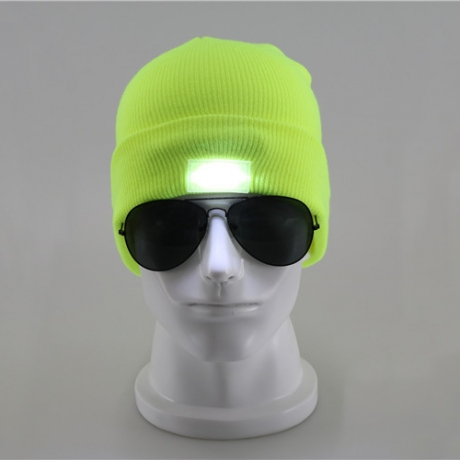 ​Fashion design LED luminous beanie hat with 5pcs led light  (FH-04)