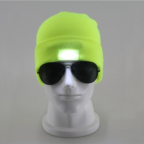 Fashion design LED luminous beanie hat with 5pcs led light  (FH-04)